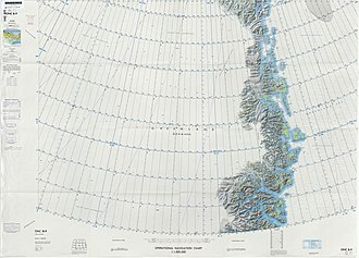 Kaiser Franz Joseph Fjord - Image: Operational Navigation Chart B 9, 1st edition