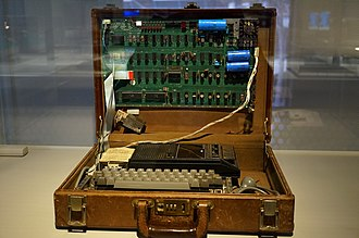 Apple I - Original 1976 Apple 1 Computer in a briefcase. From the Sydney Powerhouse Museum collection
