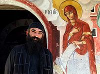 Orthodox Monk at Treskavec 01.jpg