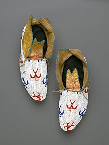 0a6b94f7d26d2 Osage (Native American). Pair of Moccasins, early 20th century. Brooklyn  Museum