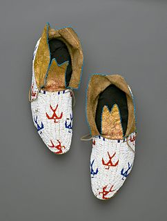 type of shoe originating with North American indiginous peoples