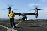 Osprey on Deck, USAF CV-22B Delivers Food to USS San Diego (LPD 22) 141013-M-QH793-034.jpg