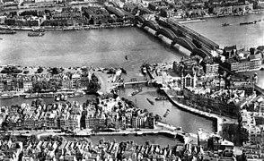Oude Haven en Maasbruggen 1939