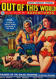 <i>Out of This World Adventures</i> US pulp science fiction magazine