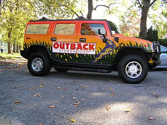 Outback Steakhouse - The Outback Steakhouse Hummer vehicle