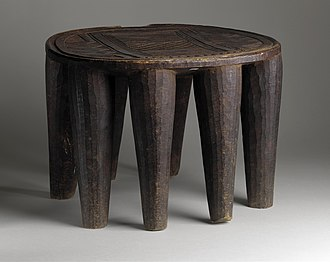 Nupe people - Image: Oval Stool with Incised Carving LACMA AC1993.218.11