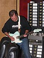 Overdubbing the guitar, in front of Studer A80 24-track recorder, Enrolling Stones in the Downtown Recording Studio.jpg