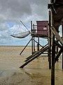 Pêcherie de la pointe Saint Clément à Esnandes Charente-Maritime, permettant la pratique de la pêche au carrelet.jpg