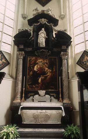 Надгробие Рубенса в антверпенской церкви Синт-Якобскерк