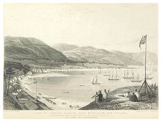 New Zealand Company ships - Port Nicholson Harbour in the early 1840s