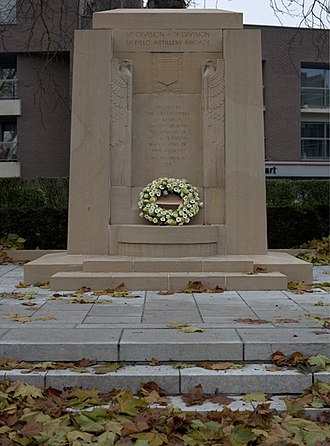 Oudenaarde - Monument in Oudenaarde honoring the 40,000 members of the US 37th and 91st Divisions who fought there October 30 – November 11, 1918