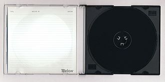 "Optical disc packaging - A ""black side"" Slim Case."