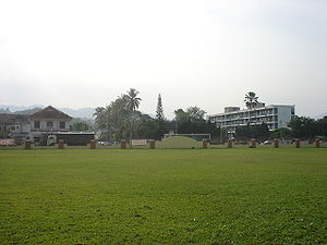 Gopeng - View from the Padang Bandaran Gopeng towards Jalan Gopeng (Gopeng Road), from the left, Gopeng Post Office and the Gopeng Police Station.