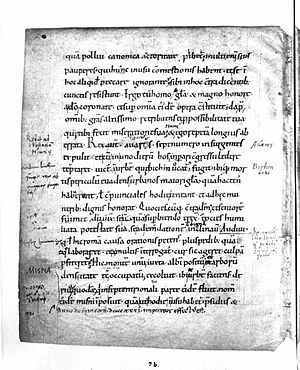 Thietmar of Merseburg - Page of Thietmar's Chronicle