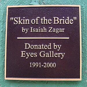 Painted Bride Art Center - Image: Painted Bride Art Center 230 Vine Street Skin of the Bride by Isaiah Zagar plaque