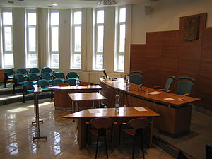Moot court - A law school's courtroom