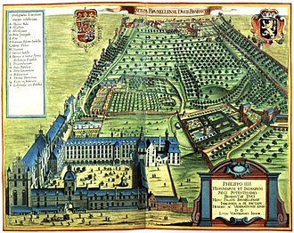 Coudenberg - The palace and gardens of Koudenberg in 1659