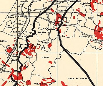 Palestine Index to Villages and Settlements, showing Jewish-owned Land 31 March 1945 (cropped).jpg