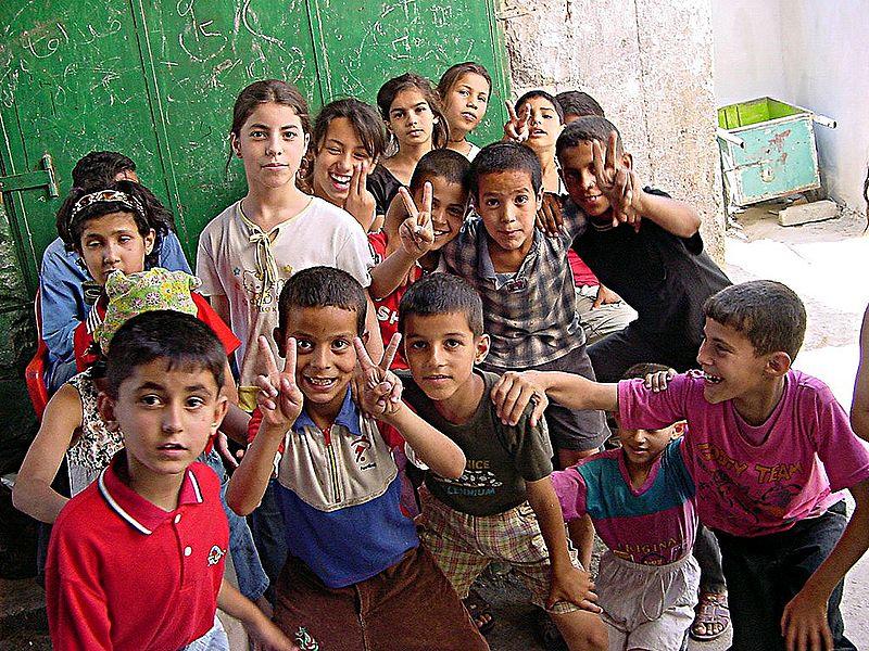 File:Palestinian children in Jenin.jpg