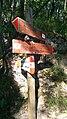 Palo segnaletica verticale CAI Foce di Grattaculo - Alpi Apuane.jpg