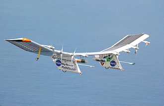 Electric aircraft - The NASA Pathfinder Plus electric-powered unmanned aerial vehicle