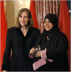 Samia al-Amoudi - Paula Dobriansky, under secretary of state for democracy and global affairs with Samia al-Amoudi March 7, 2007 in Washington