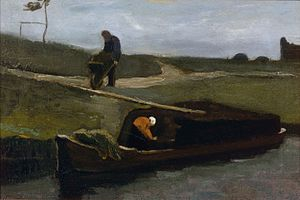 Drents Museum - Image: Peat Boat with Two Figures