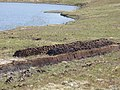 Peat stack by Loch na h-Airbhe - geograph.org.uk - 1331903.jpg