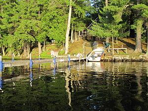 Pelican Lake Fishing 7-3-2009 end of pier 2.jpg