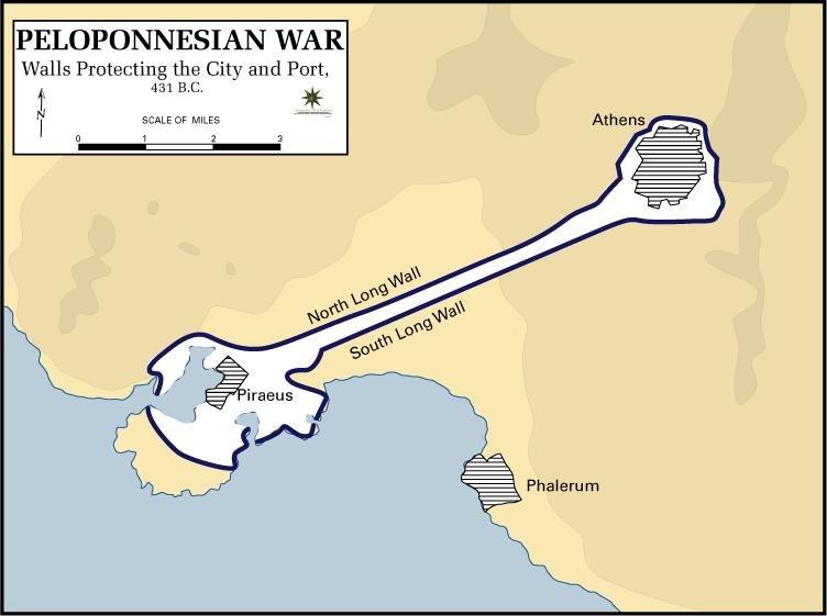 Pelopennesian War, Walls Protecting the City, 431 B.C.