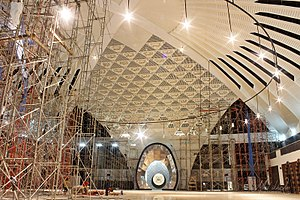 Grand Mosque of West Sumatra - The unfinished interior as of February 2015.