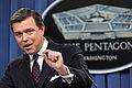 "Pentagon Press Secretary Geoff Morrell talks about the possible repeal of the ""don't ask, don't tell"" policy relating to gays in the military Nov 101118-D-WQ296-017.jpg"
