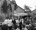 Pestszenterzsébet 1940, Körmenet a Szent Lajos-templom környékén. Fortepan 56781.jpg