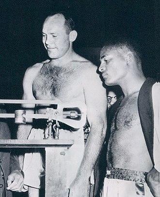 Pete Rademacher - Rademacher and Zora Folley in 1958
