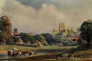 Peter De Wint - St. Albans by Peter de Wint