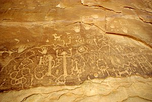 Montezuma County, Colorado - Prehistoric petroglyphs in Mesa Verde National Park