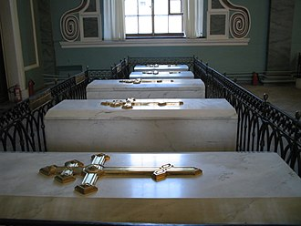 Saints Peter and Paul Cathedral, Saint Petersburg - Tombs inside the cathedral