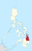 Map of the Philippines highlighting Caraga