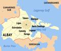 Ph locator albay MAYON municipalities.png