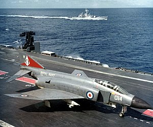 HMS Ark Royal (R09) - Phantom FG.1 on Ark Royal in 1972