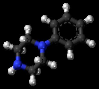 Phenylpiperazine - Image: Phenylpiperazine 3D balls
