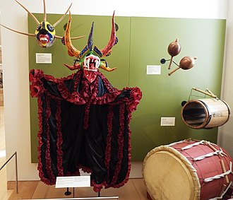 Loíza, Puerto Rico - Vejigante Mask and Costume on display at the Musical Instrument Museum of Phoenix