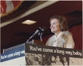 Photograph of Betty Ford Making Her Remarks During a Candidates' Luncheon at the Conrad Hilton Hotel in Chicago... - NARA - 186768.tif