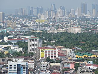 San Miguel, Manila - Image: Pic geo photos ph=mm=manila=san miguel with ortigas center skyline; aerial shot from riverview mansion philippines 2015 0624 ls