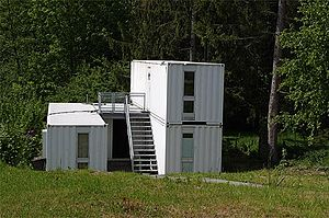 Bottmingen - A house made from shipping containers in Bottmingen