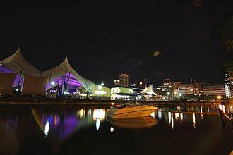 MECU Pavilion - View of Pier Six from an adjacent pier.