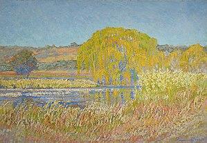 Jacobus Hendrik Pierneef - Image: Pierneef 1925 Willow Tree, Rooiplaat Farm, Northern Transvaal Sunrise