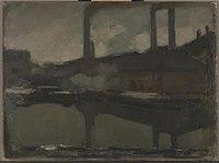 Piet Mondriaan - The royal wax candle factory, oil sketch - 0333845 - Kunstmuseum Den Haag.jpg