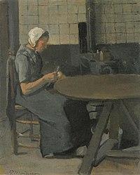 Piet Mondriaan - Vrouw met spindel - A15 - Piet Mondrian, catalogue raisonné.jpg