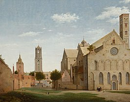 Pieter Jansz. Saenredam St. Mary's Square and St. Mary's Church at Utrecht 1663.jpg